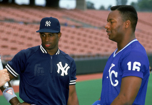 Bo Jackson and Deion Sanders