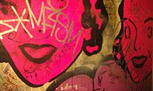 faces graffiti