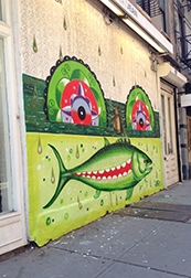 Fish Face Graffiti NYC